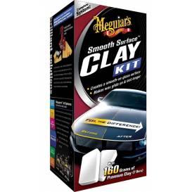 MEGUIARS Smooth Surface Clay Kit - sada k odstraňení nečistot vázaných k povrchu laku vozu