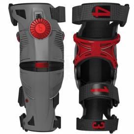 Kolenní ortézy X8, MOBIUS - USA (šedá/červená)