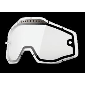 Plexi Dual Racecraft/Accuri/Strata, 100% - USA (čiré Vented , Anti-fog)
