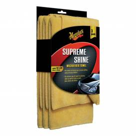 MEGUIARS Supreme Shine Microfiber Towel - mikrovláknová utěrka 40cmx60cm (balení 3ks)