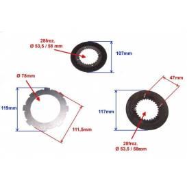 Spojkové lamely GX160 / GX200