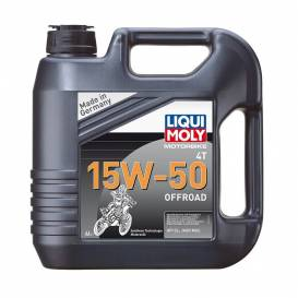 LIQUI MOLY Motorbike 4T 15W50 Offroad, fully synthetic motor oil 4 l