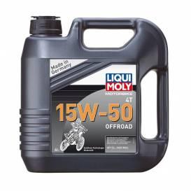 LIQUI MOLY Motorbike 4T 15W-50 Offroad - plně syntetický motorový olej 4l