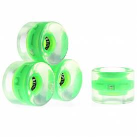 Svítící kolečko na penny board 60*45 mm - zelené - vč. ložisek ABEC 5