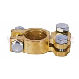 Brass battery terminal Clasic - Direct +
