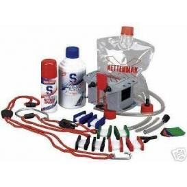 Pračka na motocyklové řetězy - Kettenmax Premium (kompletní sada vč. čističe a konzervantu řetězů)  Rakousko