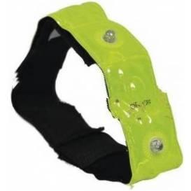 Reflexní pásek se 4-mi LED diodami Bright Band Plus, OXFORD - Anglie (žlutá fluo)