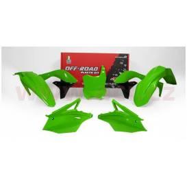 Kawasaki plastic set, RTECH (green, 5 parts)