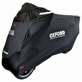 Tarpaulin with front axle Protex Stretch Outdoor with climate membrane, OXFORD - England (black, uni size)