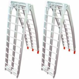 Ramp - folding - aluminum wide, Q-TECH (1 pair)