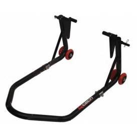 Stojan na motocykl přední / zadní, QTECH (černý)