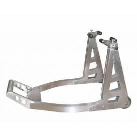 Stojan na motocykl přední hliníkový, QTECH (stříbrný)