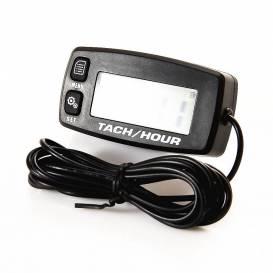 Multifunkční měřič otáček motoru a motohodin, QTECH (černý, podsvícený displej)