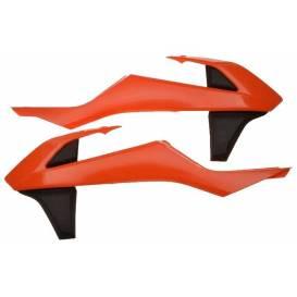 Spoilery chladiče KTM, RTECH (oranžovo-černé, pár)