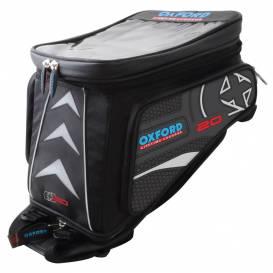 Tankbag na motocykl X20 Adventure s popruhy, OXFORD - Anglie (černý, objem 20l)
