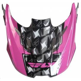 Kšilt na FLY Kinetic Flash - FLY RACING - USA (růžová/šedá/bílá)