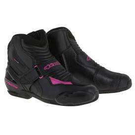 STELLA SMX-1 R shoes, ALPINESTARS (black / purple)