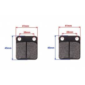 Rear brake pads (BS200-7, BS150)