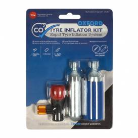 Set of 2 CO2 bombs with adapter for inflating tires, OXFORD - England