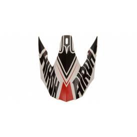 Náhradný kšilt pre prilby TWIST Avanger, AIROH - Taliansko (biela / červená / čierna)