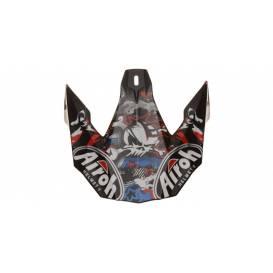 Náhradný kšilt pre prilby TWIST Punk, AIROH - Taliansko (biela / čierna / červená / modrá)