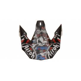 Replacement visor for TWIST Punk helmets, AIROH - Italy (white / black / red / blue)