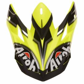 Replacement visor for AVIATOR J Cairoli Mantova helmet, AIROH, children's (black / yellow / gray)