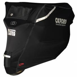Plachta na motorku Protex Stretch Outdoor s klimatickou membránou, OXFORD - Anglicko (čierna)