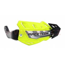 Lever covers FLX ATV, RTECH (neon yellow, 4 variants in 1, incl. Mounting kit)