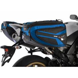 Side bags for motorcycle P50R, OXFORD - England (black / blue, volume 50 l, pair)