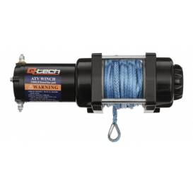 ATV / UTV winch with steel rope, pulling force 1,590 kg, Q-TECH