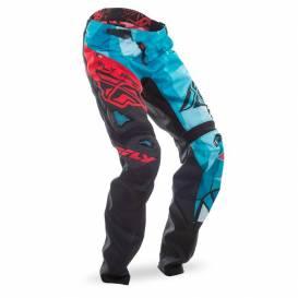 MTB cycling pants, FLY RACING (black / blue-green / red)