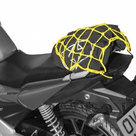Flexible luggage net for motorcycles, OXFORD - England (27 x 25 cm, yellow fluo / reflective)