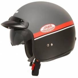 Oxygen Jawa OHC helmet, CASSIDA (matt gray / red / black / white)