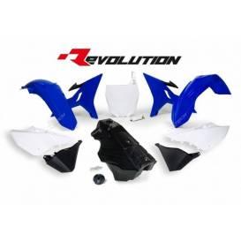 Sada plastů Yamaha - REVOLUTION KIT pro YZ 125/250 02-18 + WR 250 16-18, RTECH - Itálie (modro-bílo-černá, 7 dílů)