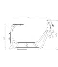 Rám pro Tmax Scooter CE50/CE60 - 60V1500W