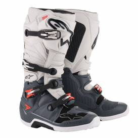 Shoes TECH 7 2021, ALPINESTARS (dark gray / light gray / red fluo)
