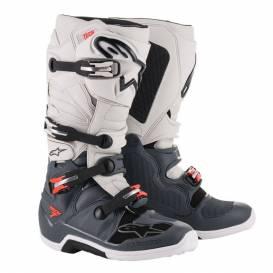 Topánky TECH 7 2021, ALPINESTARS (tmavo šedá / svetlo šedá / červená fluo)