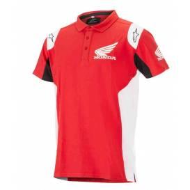 Tričko s golierikom HONDA, ALPINESTARS (červená)