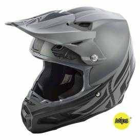 Helmet F2 Carbon SHIELD, FLY RACING (matt black / gray, with MIPS protection system)