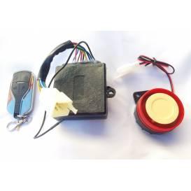 Alarm with remote shutdown for mini ATVs