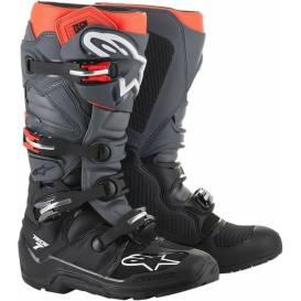 Topánky TECH 7 ENDURO 2021, ALPINESTARS (čierna / sivá / červená fluo)