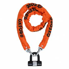 Chain lock for motorcycle Heavy Duty, OXFORD (orange tire, length 1.5 m)