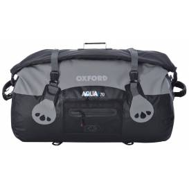 Waterproof bag Aqua T-70 Roll Bag, OXFORD (gray / black, volume 70 l)