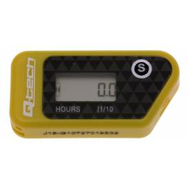 Wireless hour meter with resettable counter, Q-TECH (yellow)