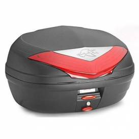 MONOLOCK TopCase, KAPPA (46L, black unpainted + red reflector)