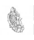 Karter motoru pravá strana  XMOTO250CC V4