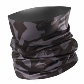 Nákrčník CAMO NECK TUBE, ALPINESTARS (čierna / sivá)