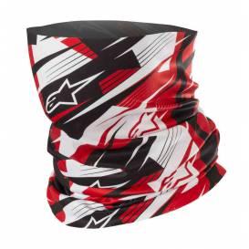 šátek BLURRED NECK TUBE, ALPINESTARS (černá/bílá/červená)