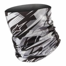 šátek BLURRED NECK TUBE, ALPINESTARS (černá/šedá)